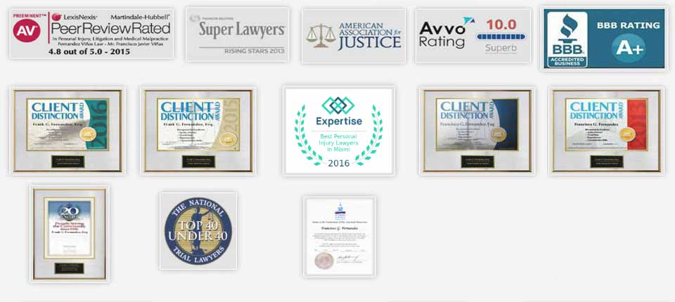 Awards and Recognitions our Tampa Personal Injury Lawyers have received