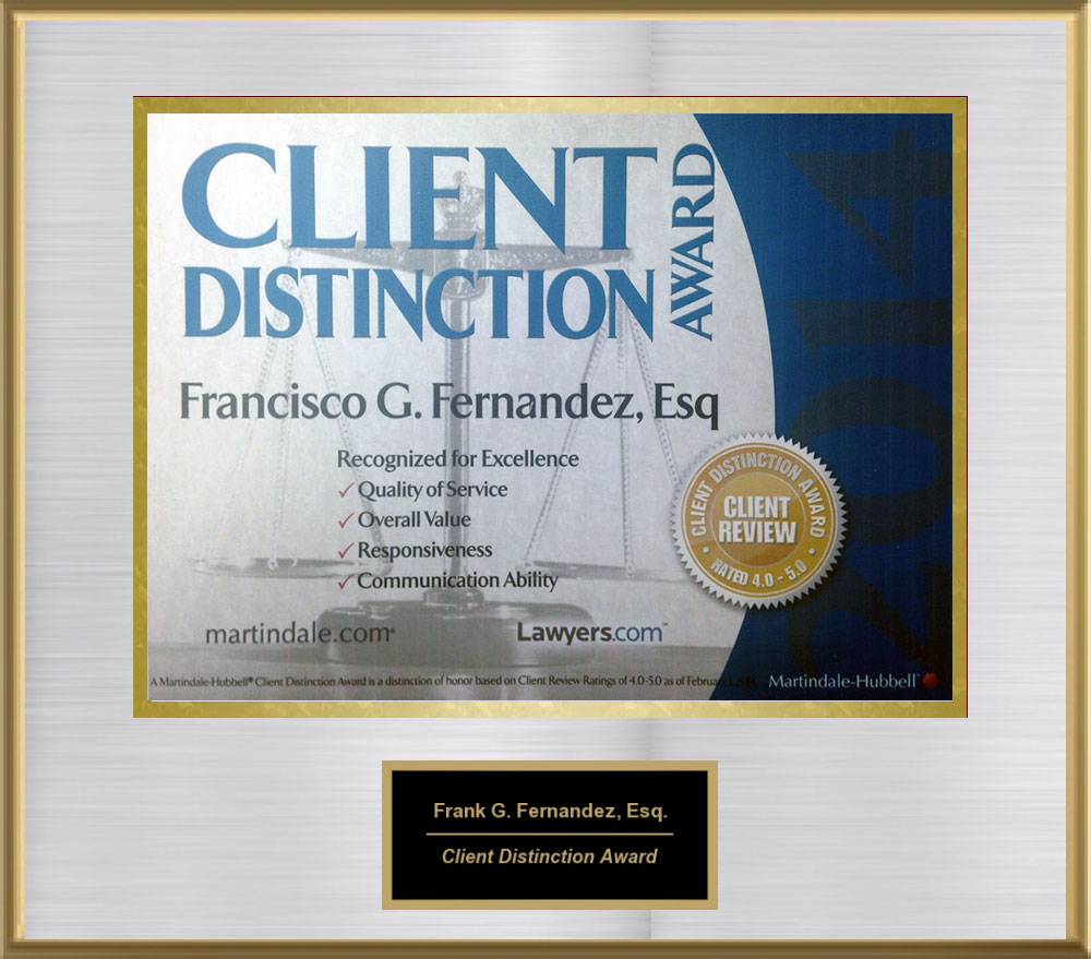 Client Distinction Award, 2014 from Martindale-Hubble