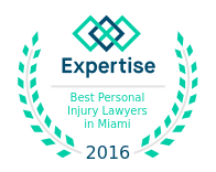 2016 Best Personal Injury Lawyers Award from Expertise