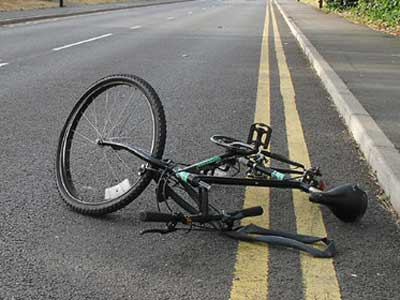 Photo of a Wrecked Bicycle from a Traffic Collision